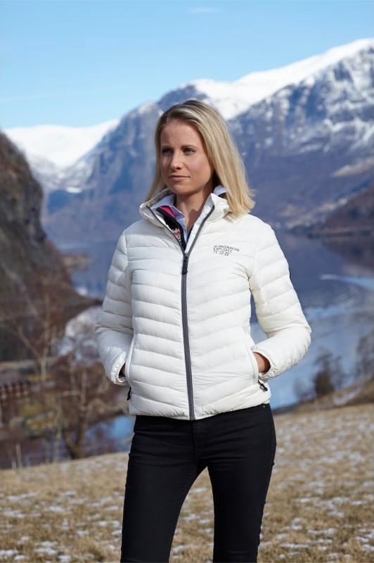 Scandinavian Explorer dunjakke, hvit